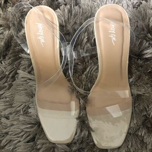 NEW Nasty gal, clear Stiletto heels